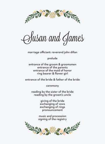 Laurel Crown Wedding Programs