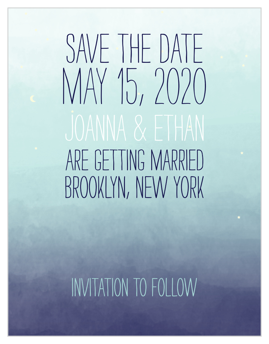 Night Lights Save the Date Printed Save the Date Invitation