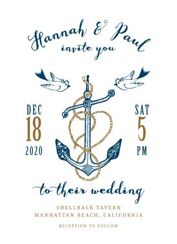 Anchors Aweigh Wedding Invitations