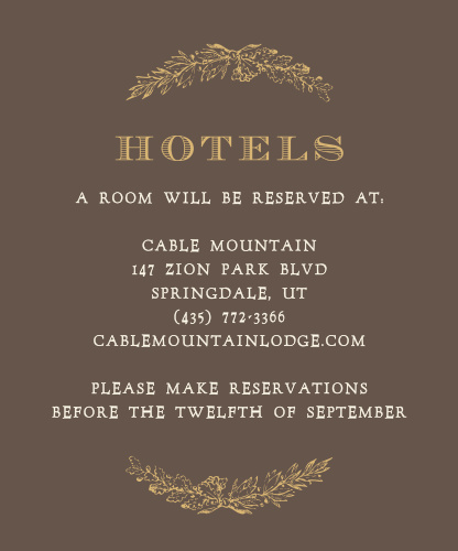 Charming Woods Foil Accommodation Cards
