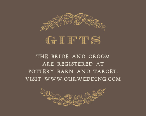 Charming Woods Foil Registry Cards