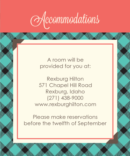 Timeless Plaid Scrapbook Accommodation Cards
