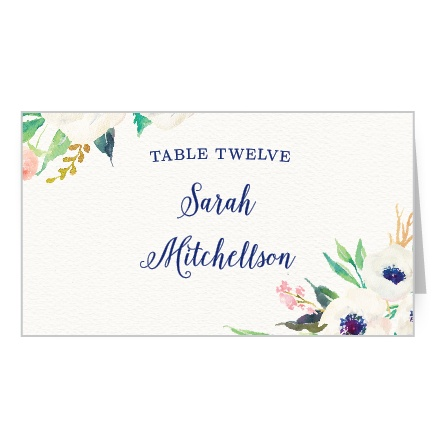 Watercolor Anemone Place Card