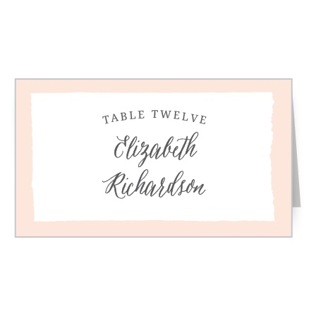 Painted Border Place Card