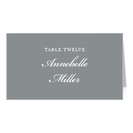 Sophisticated Typography Place Card