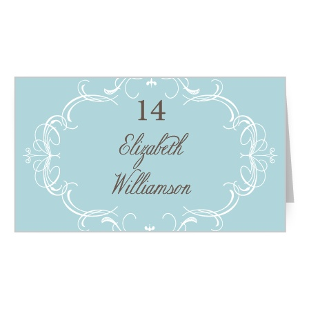 Flourish Charm Place Card