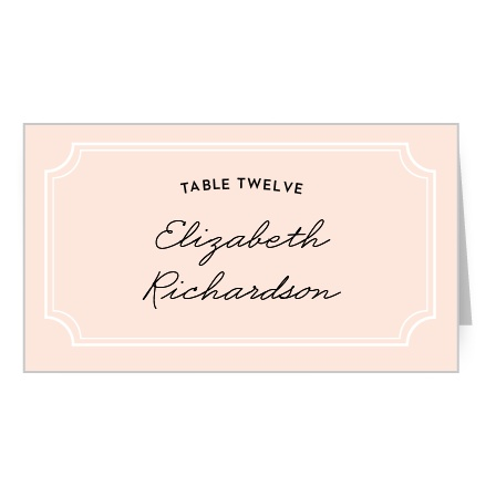 Type Frame Place Card