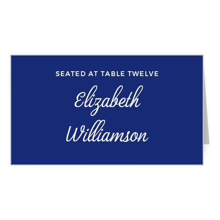 Script Emblem Place Card
