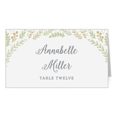 Romantic Evergreen Place Card