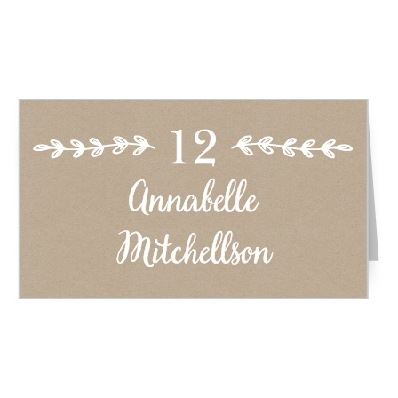 Rustic Country Place Card