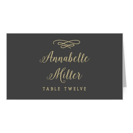 Whimsical Calligraphy Place Card