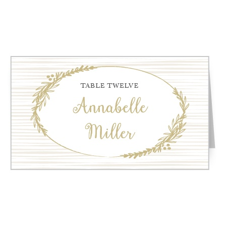 Delicate Laurel Place Card