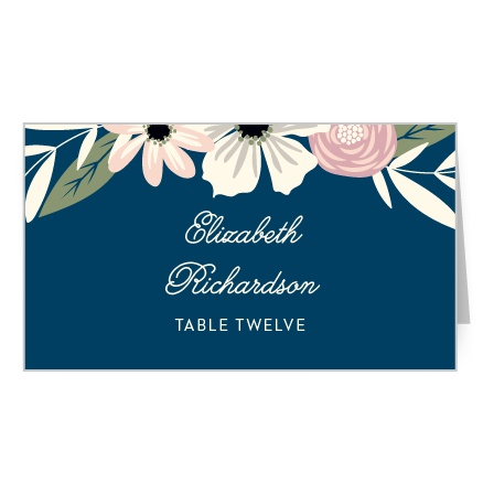 Rustic Blooms Place Card