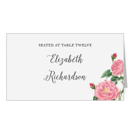 Budding Blooms Place Card