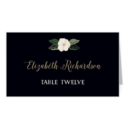 Garden Floral Place Card