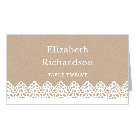 Rustic Lace Place Card