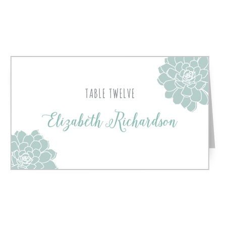 Sweet Succulents Place Card