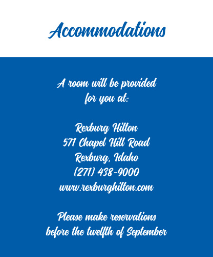 Passionate Forever Accommodation Cards