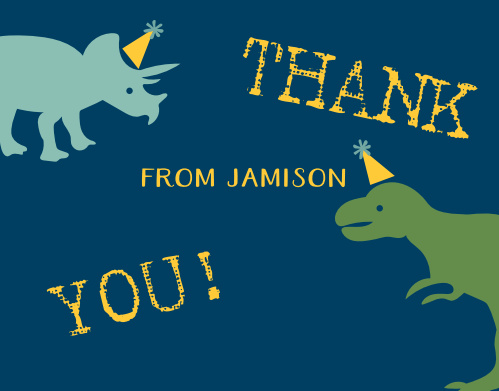 Dynamic Dinos Thank You Cards