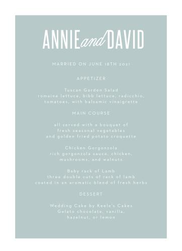 Traditional Script Wedding Menus