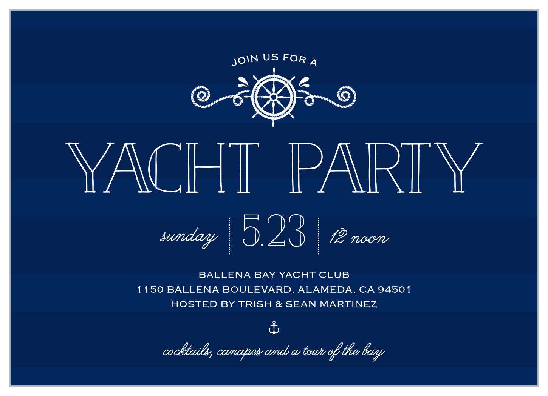 Stunning Yacht Party Invitation