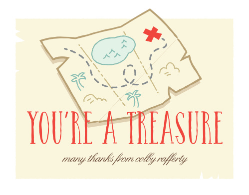 Treasure Hunt Thank You Cards