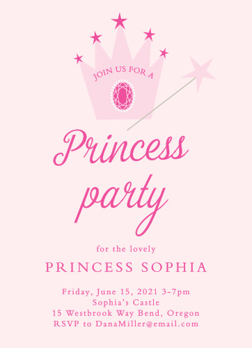 Royal Birthday Invitations Match Your Color Style Free