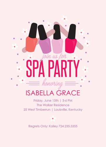 Spa Day Bridal Shower Invitations By Basic Invites