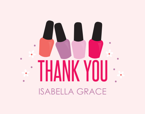 Spa Day Thank You Cards