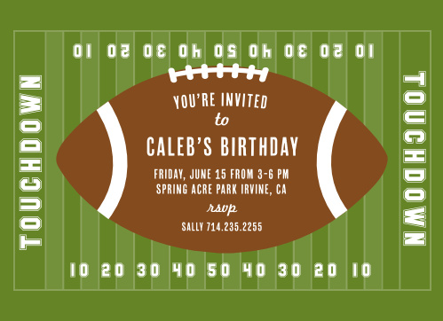 Red Zone Childrens Birthday Party Invitations