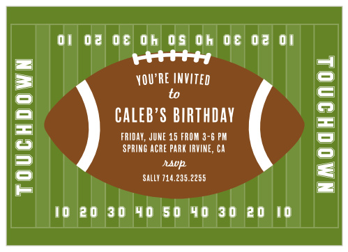 Football Children S Birthday Invitations Match Your Color