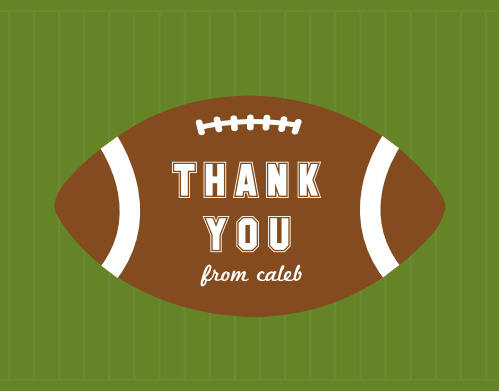 Red Zone Thank You Cards