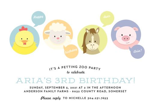 Farm Birthday Invitations Match Your Color Style Free