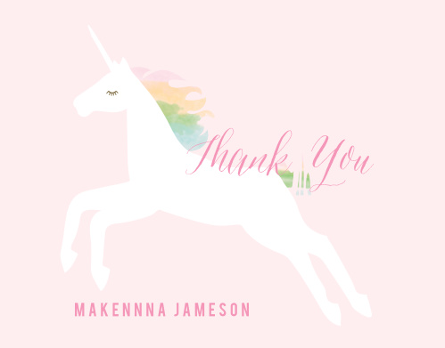 Rainbow Pony Thank You Cards