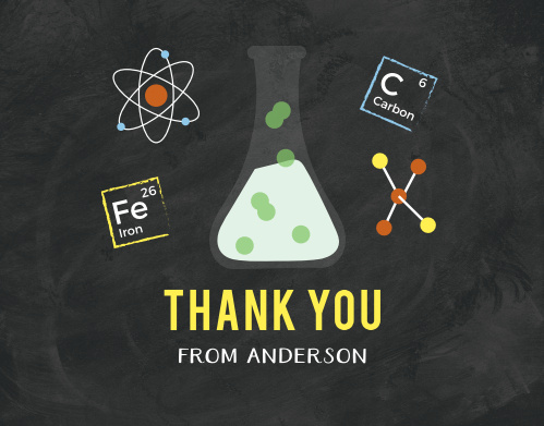 Science Fair Thank You Cards