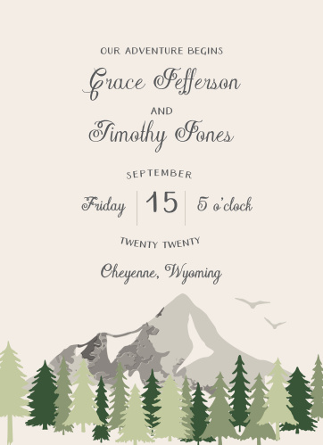 Forest Escape Wedding Invitations