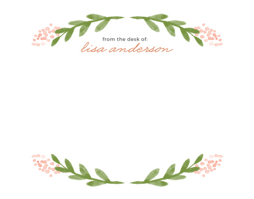 Garden Watercolors Foil Business Stationery