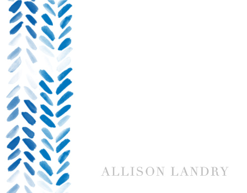Painted Chevron Foil Business Stationery