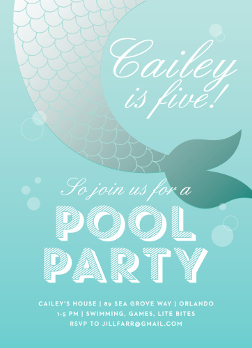 Mermaid Invitations Match Your Color Style Free