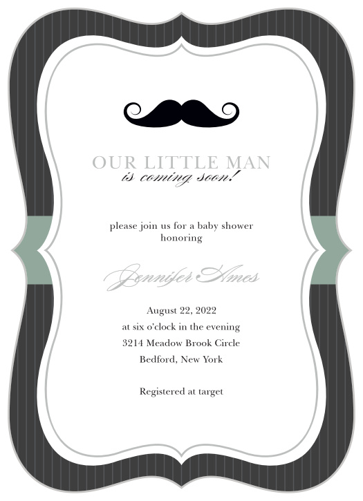 graphic relating to Free Printable Mustache Baby Shower Invitations named Mustache Youngster Shower Invites - Recreation Your Coloration Design