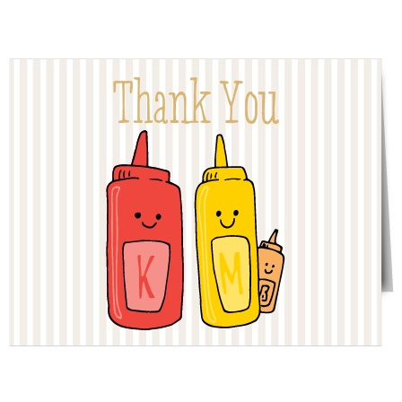 Burgers N' Brats Foil Thank You Cards