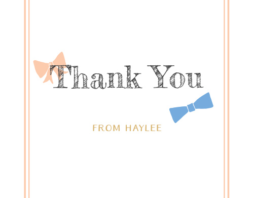 Bowties or Bows Foil Thank You Cards
