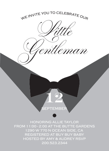 4c786f0b8e2cb Little Gentleman Baby Shower Invitations by Basic Invite