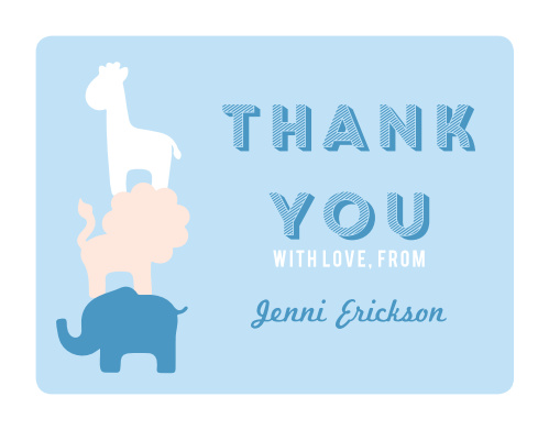 Safari Soiree Baby Shower Thank You Cards