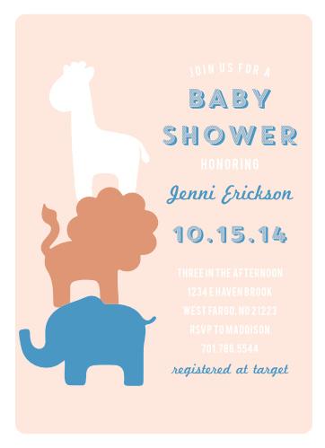 d954cf54ced Safari Soiree Foil Baby Shower Invitations