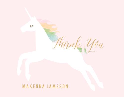 Rainbow Pony Foil Thank You Cards
