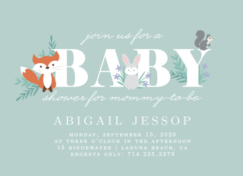 Baby Shower Invitations With Baby Name Match Your Color Style Free