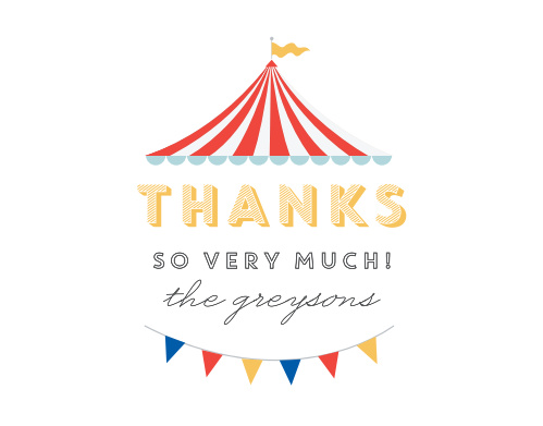 Big Top Thank You Cards