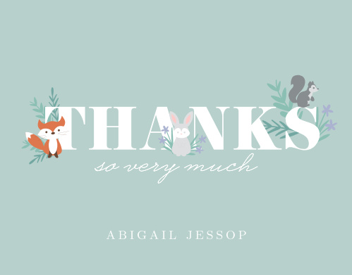 Friendly Forest Thank You Cards
