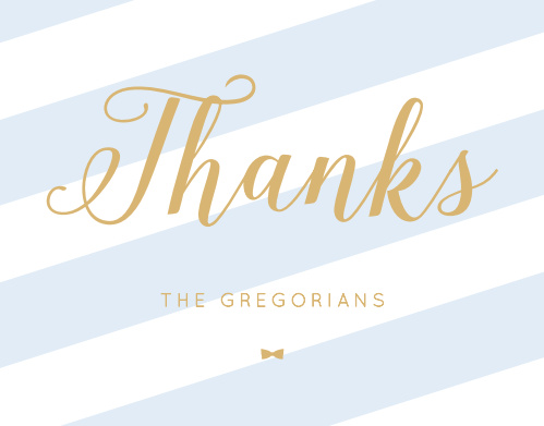 Stunning Stripes Foil Thank You Cards
